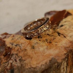 Jewelry - 10k rose gold Morganite Eternity Band